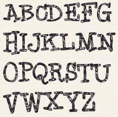 alphabet bronagh 6 inch template