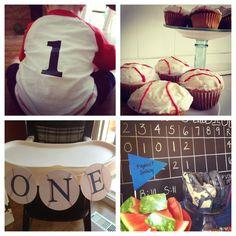 1st year birthday baseball theme | First birthday baseball theme party