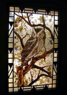 Stained Glass #StainedGlassOwl