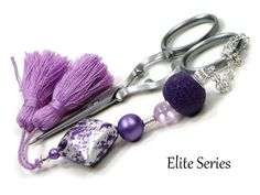 Keep your scissors handy with this beautiful #beaded #Scissor #Fob Scissor Keeper Scissor Minder by TJBdesigns