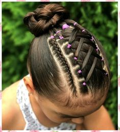 37 Hairstyles for Girls with Leashes Easy to Make and New for All Ages Dance Hairstyles, Little Girl Hairstyles, Loose Hairstyles, Braided Hairstyles, Cut My Hair, Hair Cuts, Toddler Updo, Crochet Weave Hairstyles, Hair Express