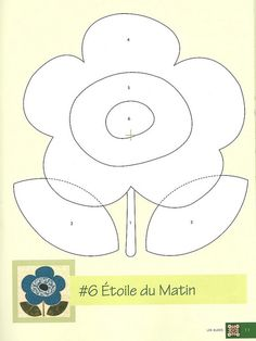 Flower appliqué pattern