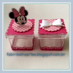 Minnie Rosa, papelaria personalizada, scrapfesta, lembrancinhas personalizadas, caixinha acrílica
