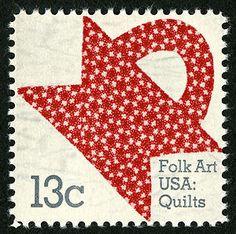 Chunky red basket on stamp. 13c Basket Design single