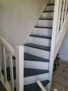 escalier repeint avec trois tons de gris r alisation cliente cage d 39 escaliers pinterest. Black Bedroom Furniture Sets. Home Design Ideas