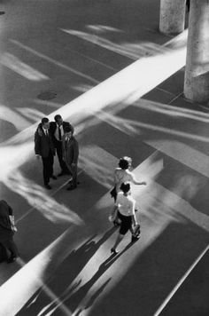 René Burri - Ministry of Health, (layout by architect Oscar Neimeyer), Rio de Janeiro, Brazil 1960. S)