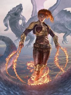 Artist: John Silva - Title: Flaming Girl - Card: Unknown