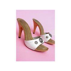 Posh Vintage: Shoes: 70S CANDIES WHITE MULES 7 found on Polyvore