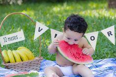 Elder e Aline comemoram 1 ano do Vitor | Clériston Martinelo Smash The Fruit