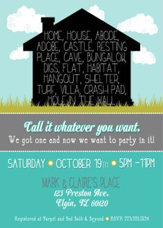 Housewarming Invitations Templates Gorgeous Plain And Simple Invitations Free Too  Invitations  Pinterest .