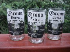 Make new glasses out of old beers