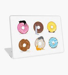 Cats and Doughnuts Laptop Skin Macbook Pro Retina, Macbook Air, Surface Laptop, Laptop Decal, Doughnuts, Laptop Skin, Kitten, Rainbow, Cats