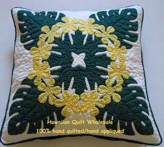 hawaiian quilting pillow