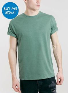 GREEN ROLLER CREW NECK T-SHIRT