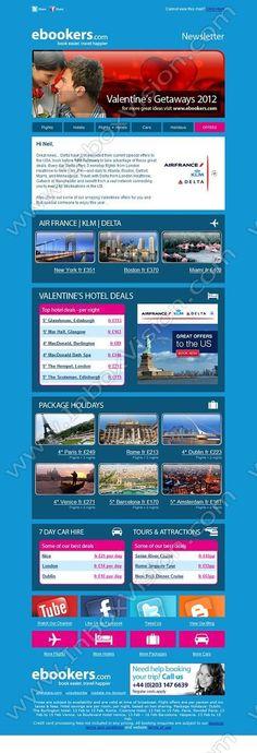 Brand - Flightbookers Ltd (Ebookers):  Subject:  Valentines Getaways and amazing USA flight deals