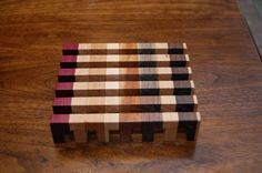 Beautiful Small Trivet With Multiple Woods by WunderWoodDesigns