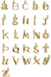 A-Z Alphabet Letter gold vermeil pendants