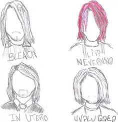 The many hairstyles of Kurt Cobain