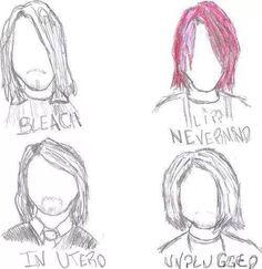 The many hairstyles of Kurt Cobain