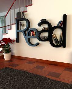 """Read"" bookshelf. How meta :) Home decor design...Awesome!!! :-) KSS"
