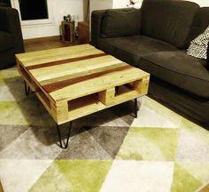 Table basse en palette & hairpin legs rigatoni !  Créez vous aussi votre table personnalisée avec nos hairpin legs