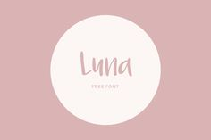 Luna – Free Font  I've got this amazing free font in my collections and there are more awesome things to find in this website. This could be your reference to go browsing along your free time...