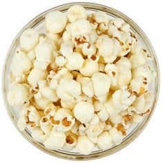 White Pepper Parmesan Popcorn ($8) ❤ liked on Polyvore featuring home, kitchen & dining, serveware and white serveware