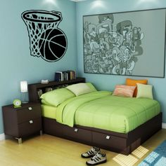 Plus de 1000 id es propos de deco basket ball sur pinterest mur de basket - Deco basketball chambre ...