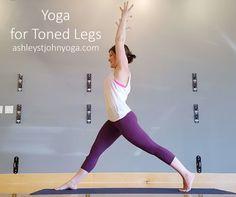 Yoga For Toned Legs - ashleystjohnyoga.com