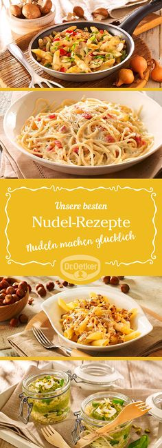 Lassen Sie sich von der großen Auswahl an Nudel-Rezepten, die von der Dr. Oetker Versuchsküche entwickelt wurden, inspirieren.