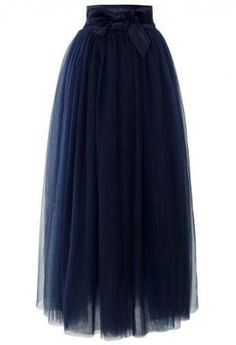 Amore Maxi Tulle Prom Skirt in Navy - Skirt - Bottoms - Retro, Indie and Unique Fashion by sherrie