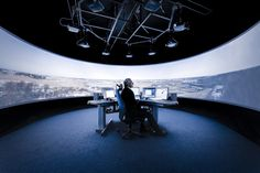 Saab's remote air traffic control tower with panoramic views // #bafco #bafcointeriors Visit www.bafco.com for more inspirations.