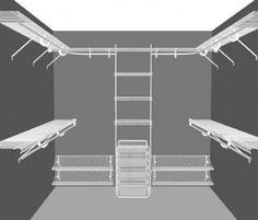 Walk in closet layout 3, 2.44m / 8' square