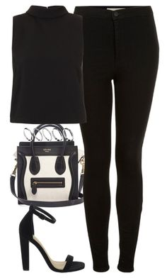 """""""Untitled #1941"""" by hiitsbre ❤ liked on Polyvore featuring CÉLINE, Topshop and ASOS"""
