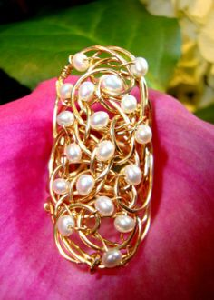 14kt Gold fill & tiny pearls combine in this stunner from Cassandra Collections. www.kalenstyle.com