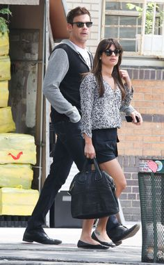 Lea Michele and Cory Monteith in New York June 18th 2013