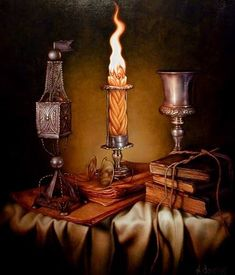 Натюрморты. | VK Beautiful Library, Jewish Art, Conceptual Art, Journal Cards, Arches, Still Life, Candle Holders, Religion, Candles