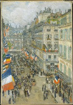 Childe Hassam, (American, 1859–1935). July Fourteenth, Rue Daunou, 1910. The Metropolitan Museum of Art, New York. George A. Hearn Fund, 1929 (29.86)