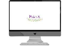 Wallpaper für Desktop und Smartphone für März. Freebie. Gratis downloaden.  http://welovehandmade.at
