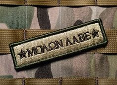 Tactical Multicam Molon Labe 1x4 Inch Velcro Military Morale Patch Empire Tactical http://www.amazon.com/dp/B00X1IWTUM/ref=cm_sw_r_pi_dp_SjOrvb1J84EX6