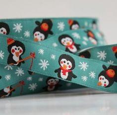 Webband Penguin    Öko-Tex-Standard 100    Breite: 15 mm    Auf den anderen Bildern sehen Sie den passenden Bio Jersey und 2 Uni-Jerseys die zu diesem Webband gut passen, erhältlich auch   ab 28.1   in meinem Ebay-Shop !!      Sie kaufen eine Einheit von1m x 15mm direkt  von der Rolle  kaufen Sie mehr liefere ich  in einem Stück !