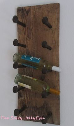 Hey, I found this really awesome Etsy listing at https://www.etsy.com/listing/195106882/rustic-barnwood-wine-rack-reclaimed