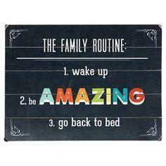 Rutina familiar: 1. Levantarse. 2. Ser INCREÍBLES. 3. Volver a la cama.