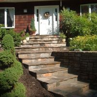 stone front steps