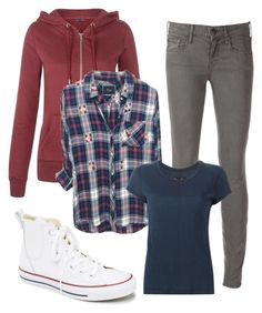 """""""Stiles Stilinski inspired"""" by beneath-the-starlight ❤ liked on Polyvore featuring New Look, Vince, rag & bone and Converse"""