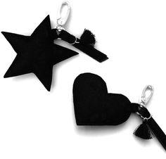Taschenanhänger Stern oder Herz
