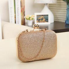 f4133df593bb Woman Evening bag Women Gold Clutch bags Crystal Day Clutch Wallet Wedding  Purse Party Banquet -