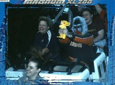 Every year my friend does a 'silly picture while on a roller coaster'. This year was by far his best.
