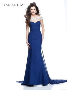 Tarik Ediz Pageant Dress - 92219  Classic and sophisticated gown for a Miss contestant.  Glamorous evening gown!