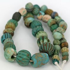 Ancient Faience Bead Strand (sourced from Afghanistan and Iran).